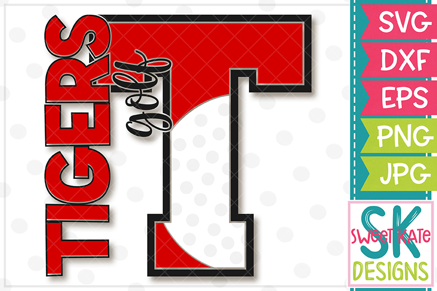 T Tigers Golf SVG DXF EPS PNG JPG example image 2