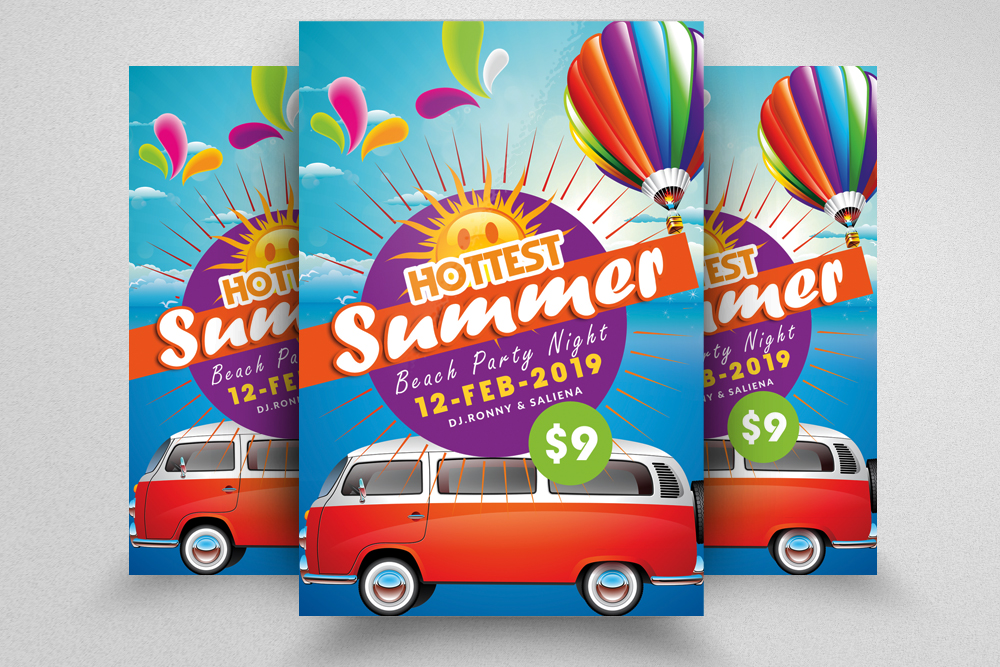 10 Summer Beach Fun Party Flyers Bundle example image 11