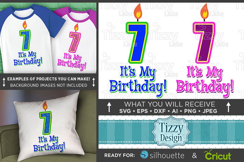 7th Birthday Svg - Its My Birthday SVG Birthday Shirt - 1034 example image 1