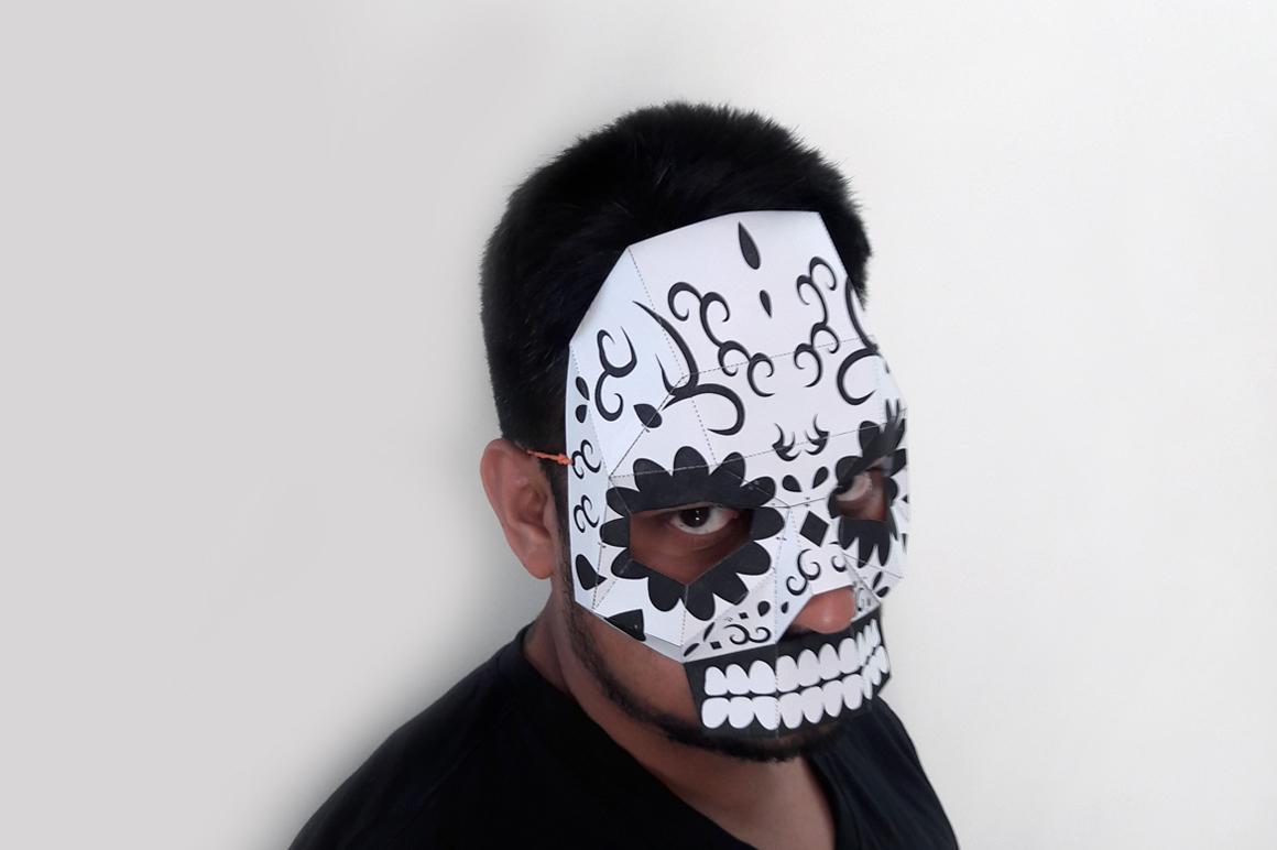 DIY Sugar Skull - 3d papercraft example image 3
