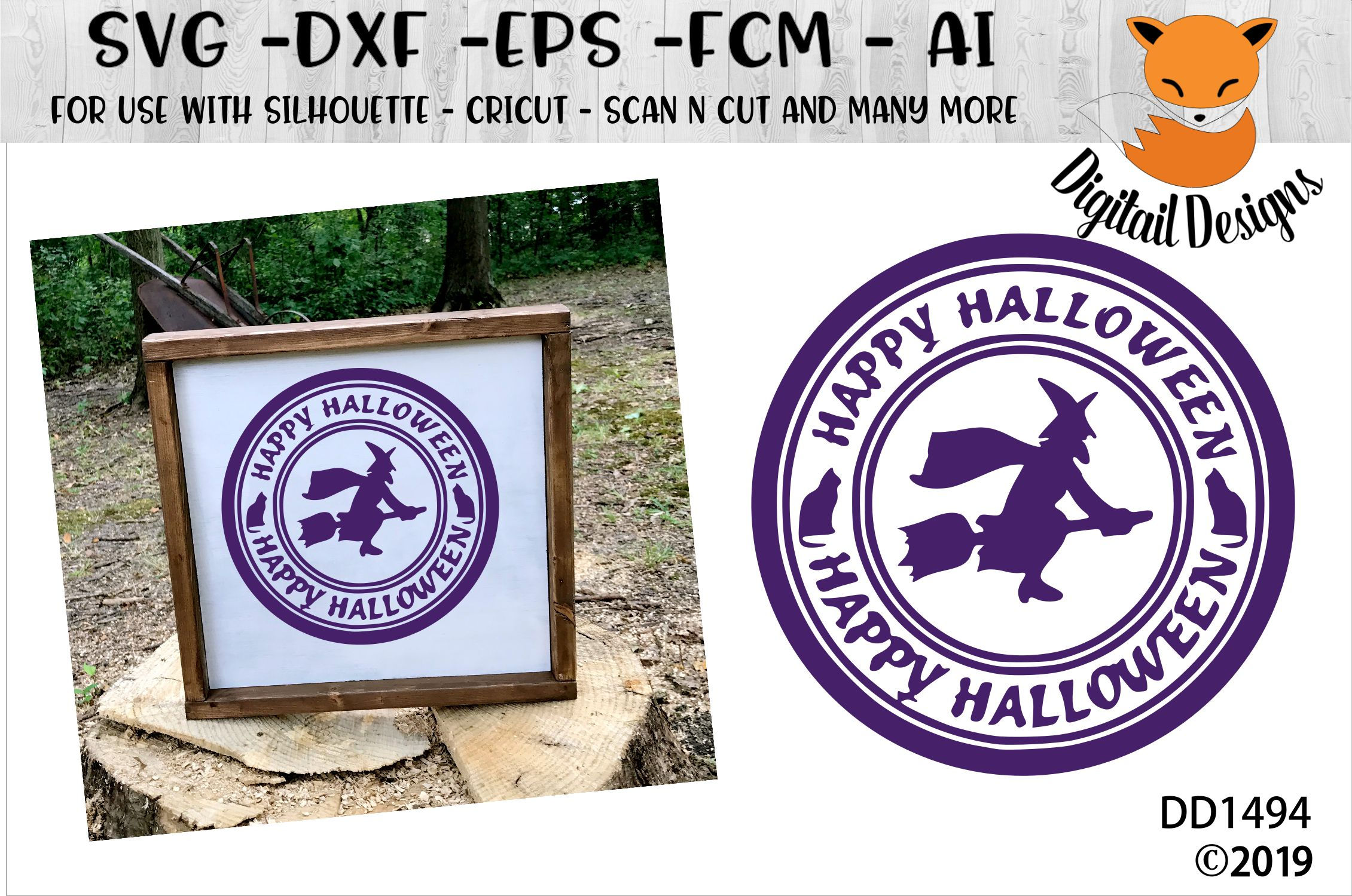 Halloween Stamp Sign SVG example image 1