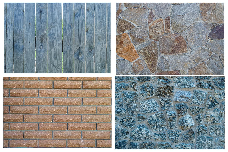 Bricks, fence and greenery example image 10