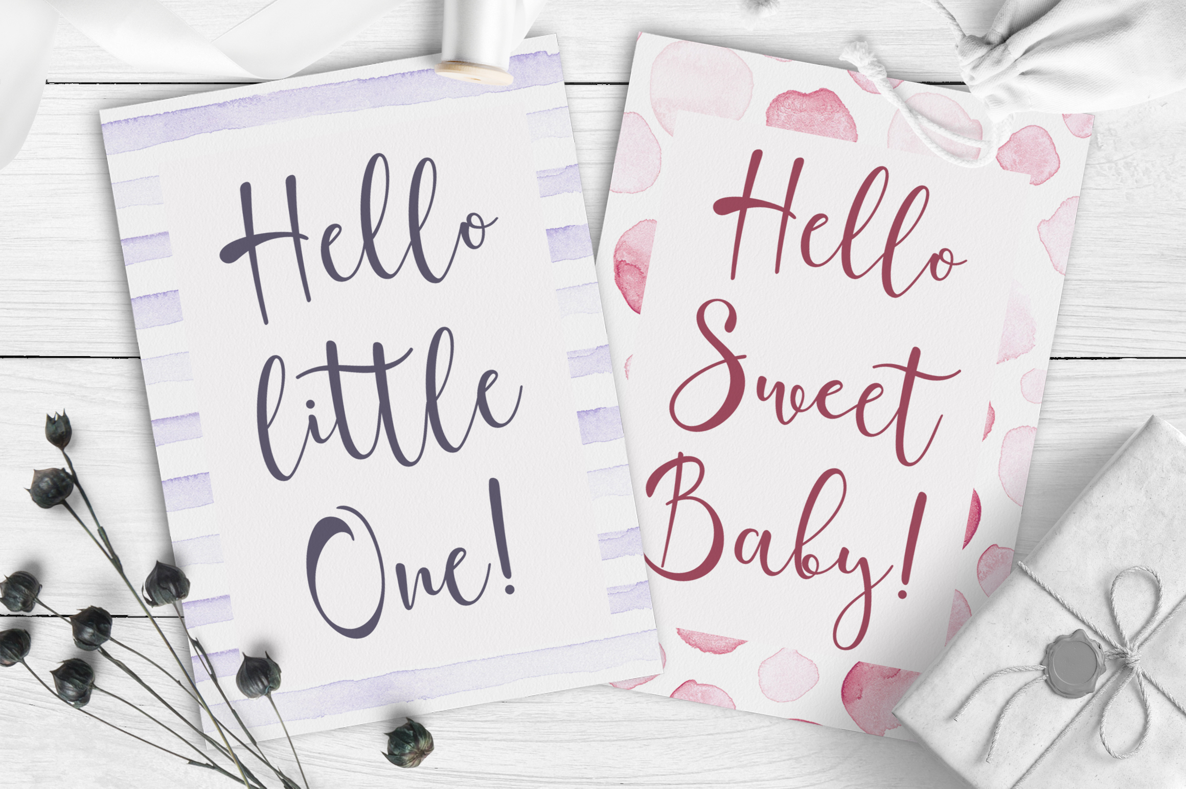 Catmint - handwritten calligraphy font example image 9