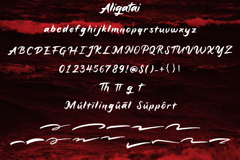 Aligatai Brush Font example image 6