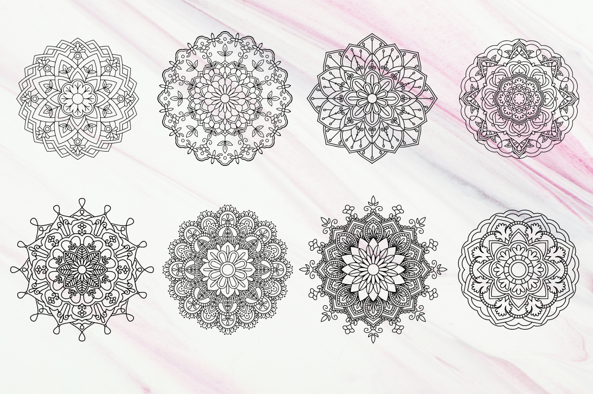20 Mandala Vectors SVG DXF PNG - For Crafters example image 10