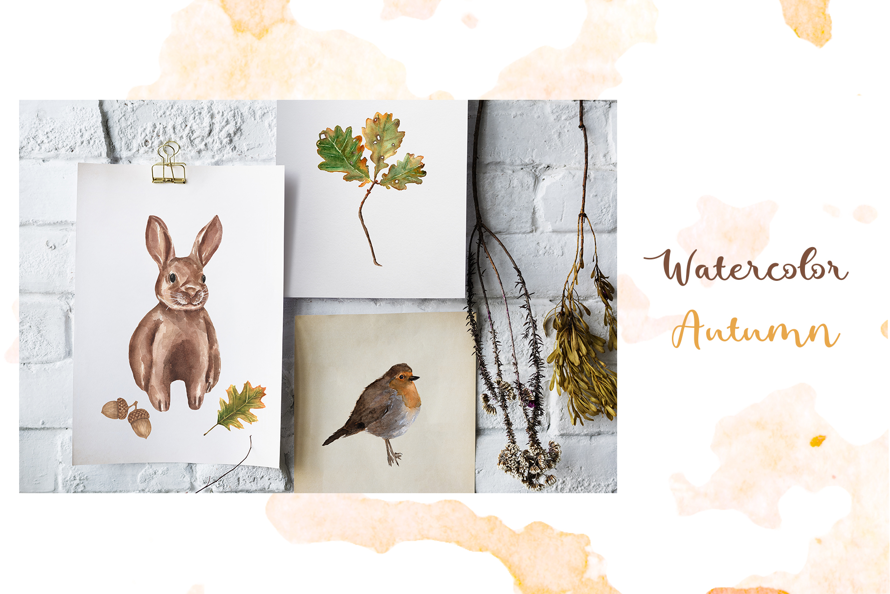 Watercolor Autumn Collection example image 10
