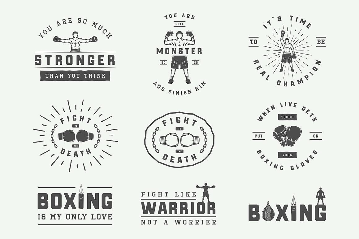 Vintage Boxing Bundle example image 6