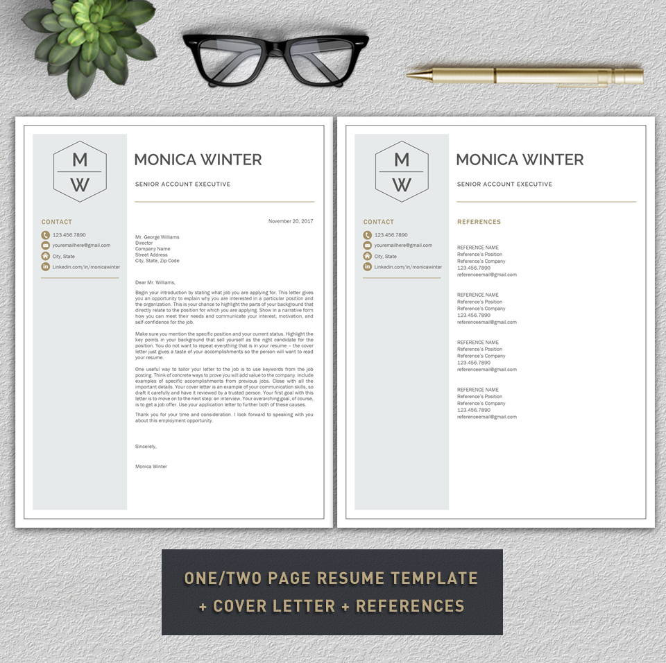 Resume Template / CV Template / Cover Letter example image 7