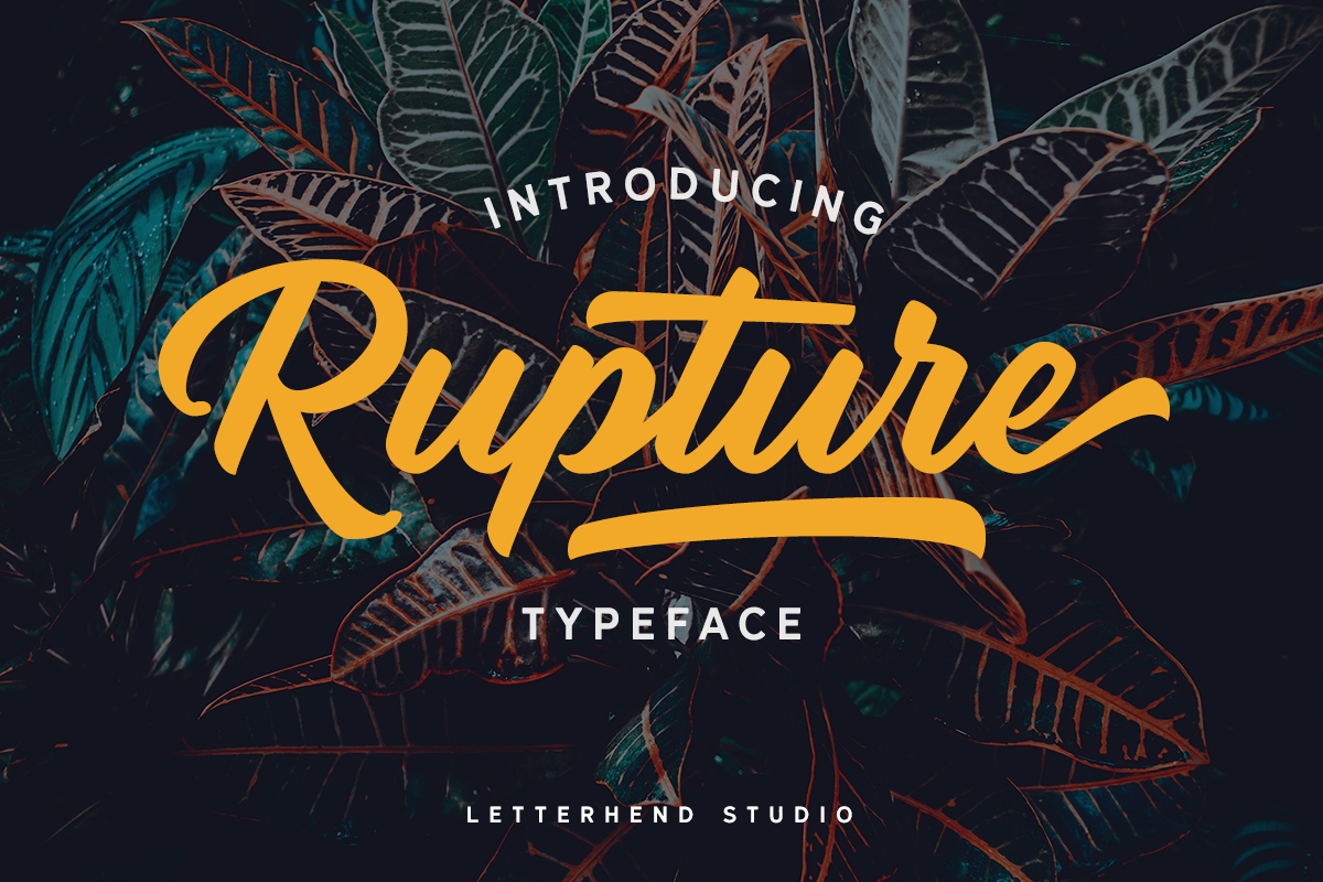 Rupture Typeface - Font Duo example image 1