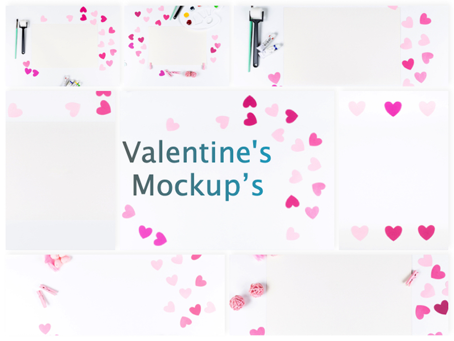 Set of 8 Valentine's Mockup's example image 9