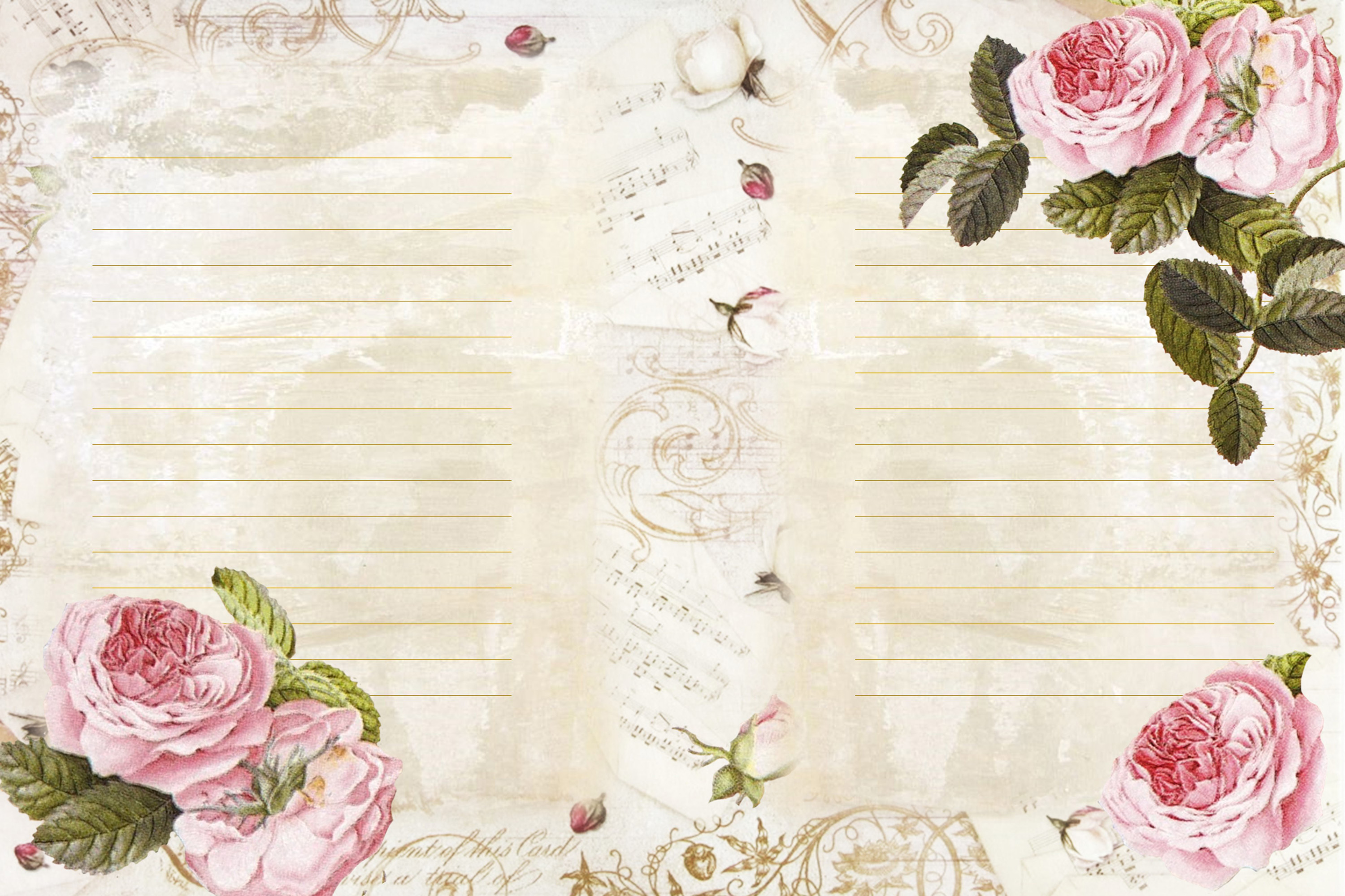 Journaling backgrounds with FREE ephemera PNG and JPEG CU example image 5