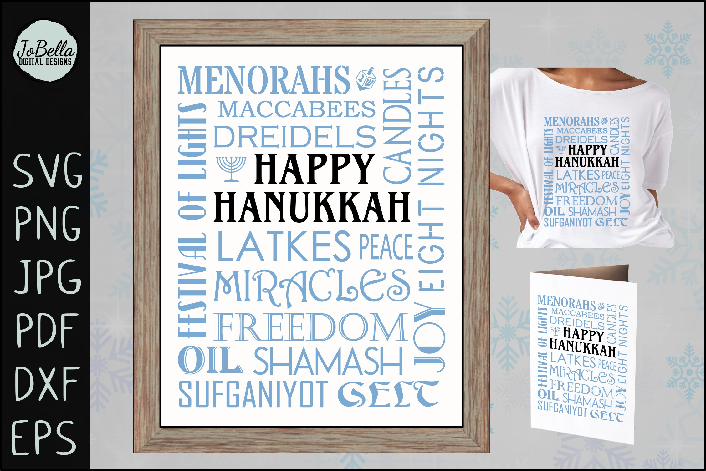 Jewish SVG Bundle, Sublimation PNGs and Printables example image 12