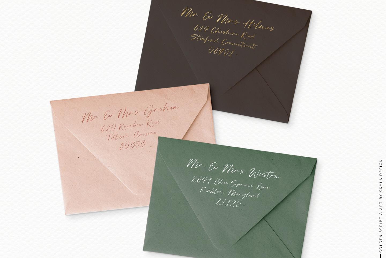 Golden, a romantic wedding script font example image 10