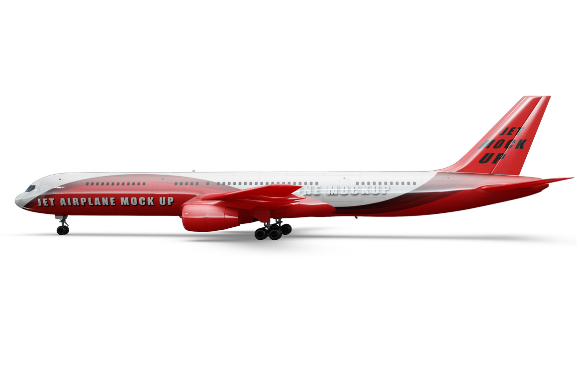 Jet Airplane Mockup example image 3