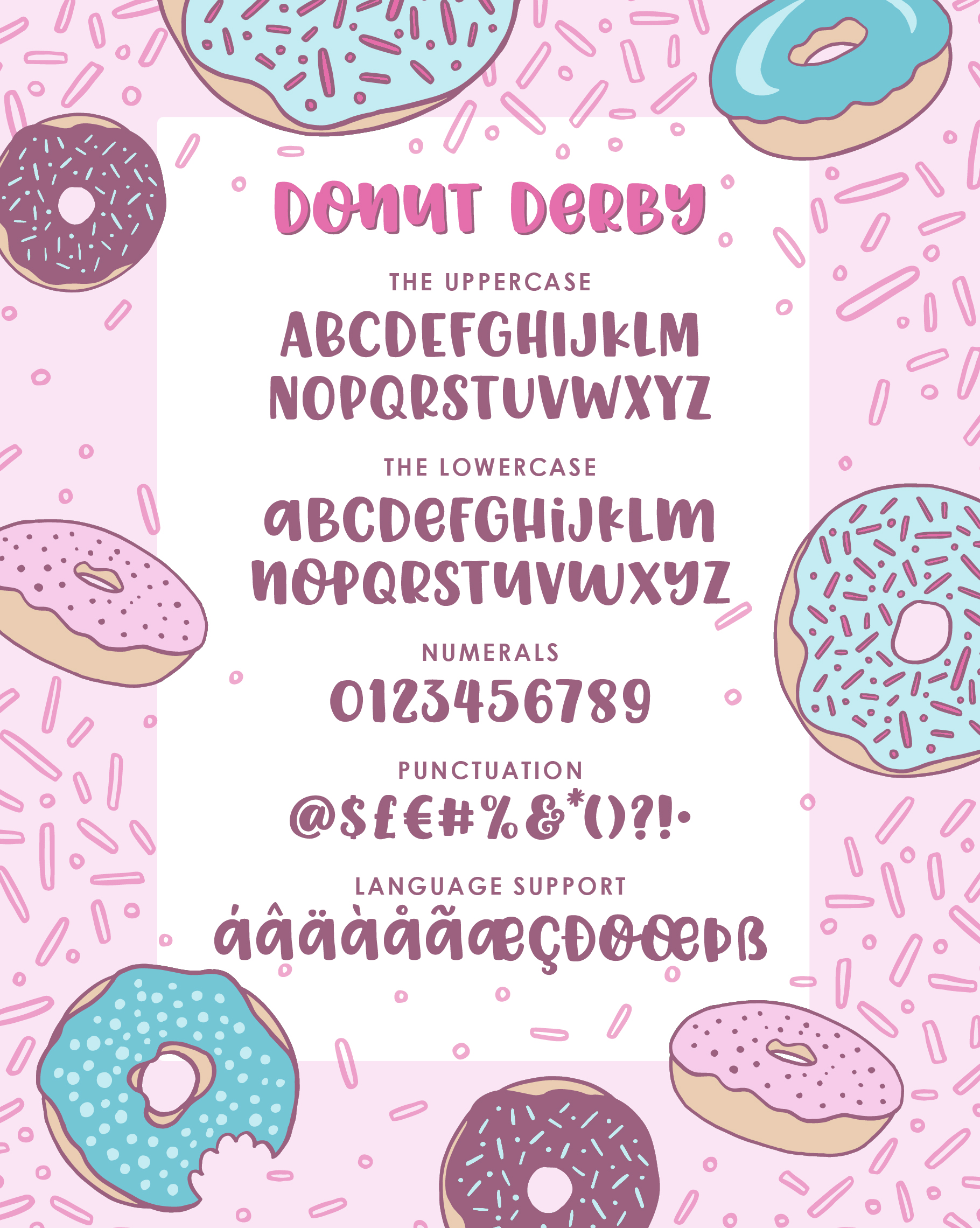 Donut Derby, a tasty caps font example image 2