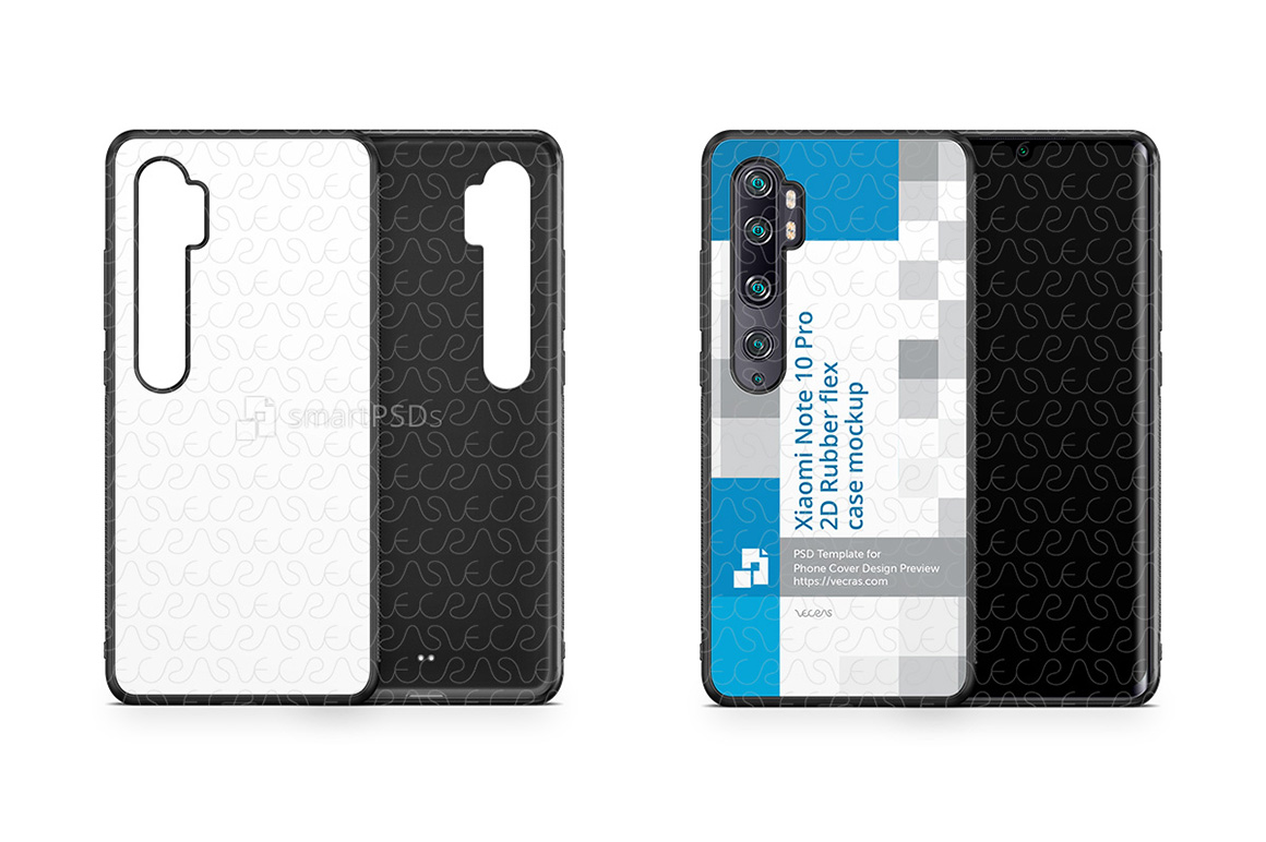 Xiaomi Mi Note 10 Pro 2019 2d Rubber Flex Case Design Mockup example image 1