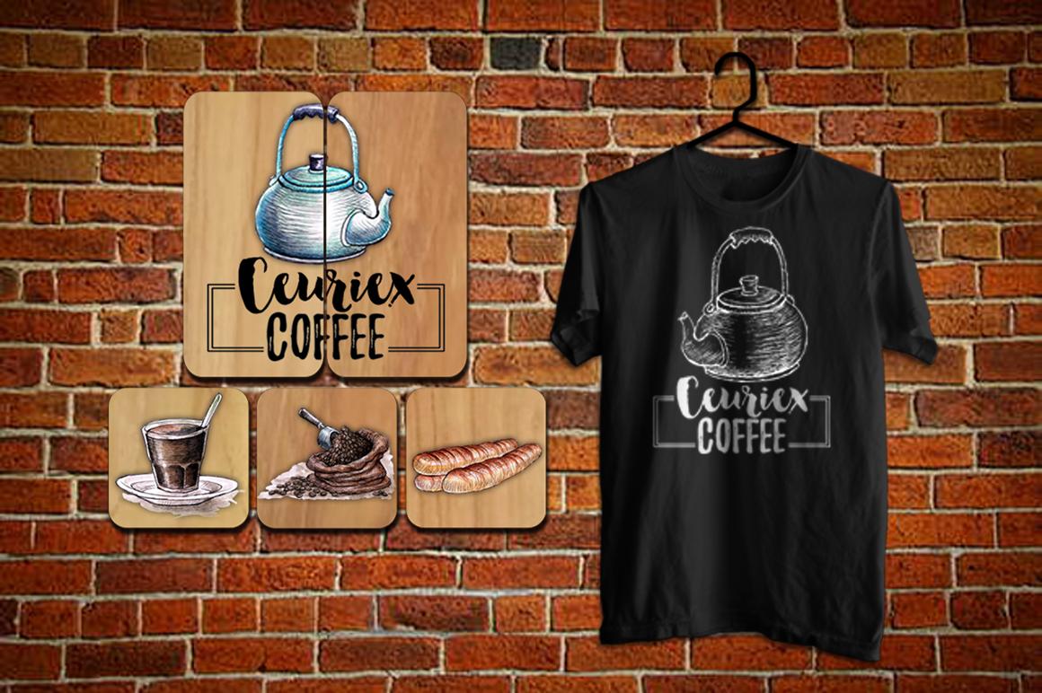 Watercolor Coffee (promo 50%) example image 10