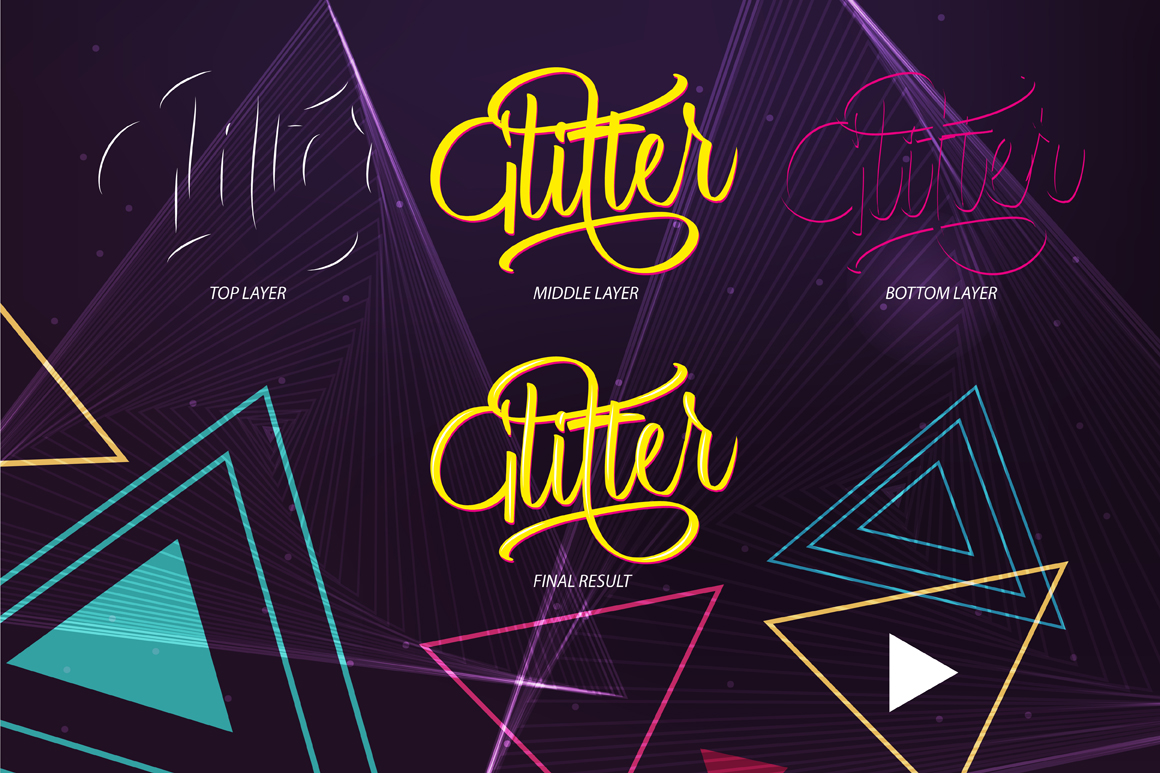 Glitter Script Font (30% Off) example image 5