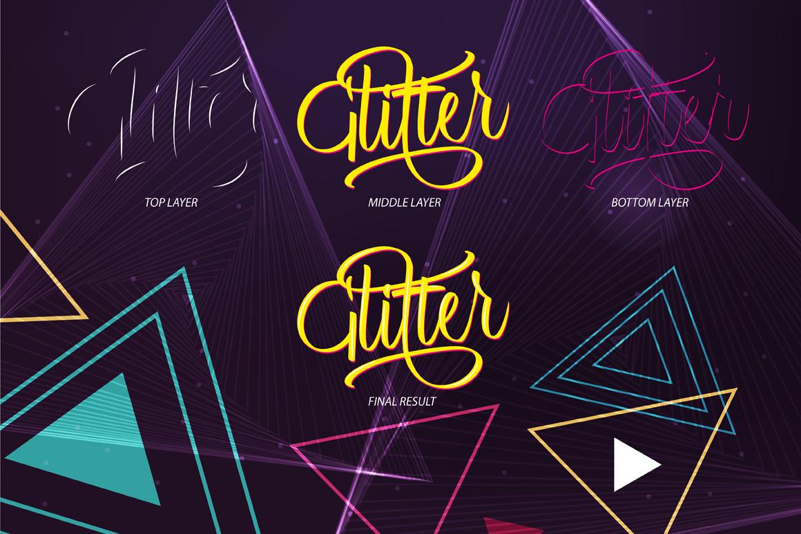 Glitter Script Font (30% Off) example image 5