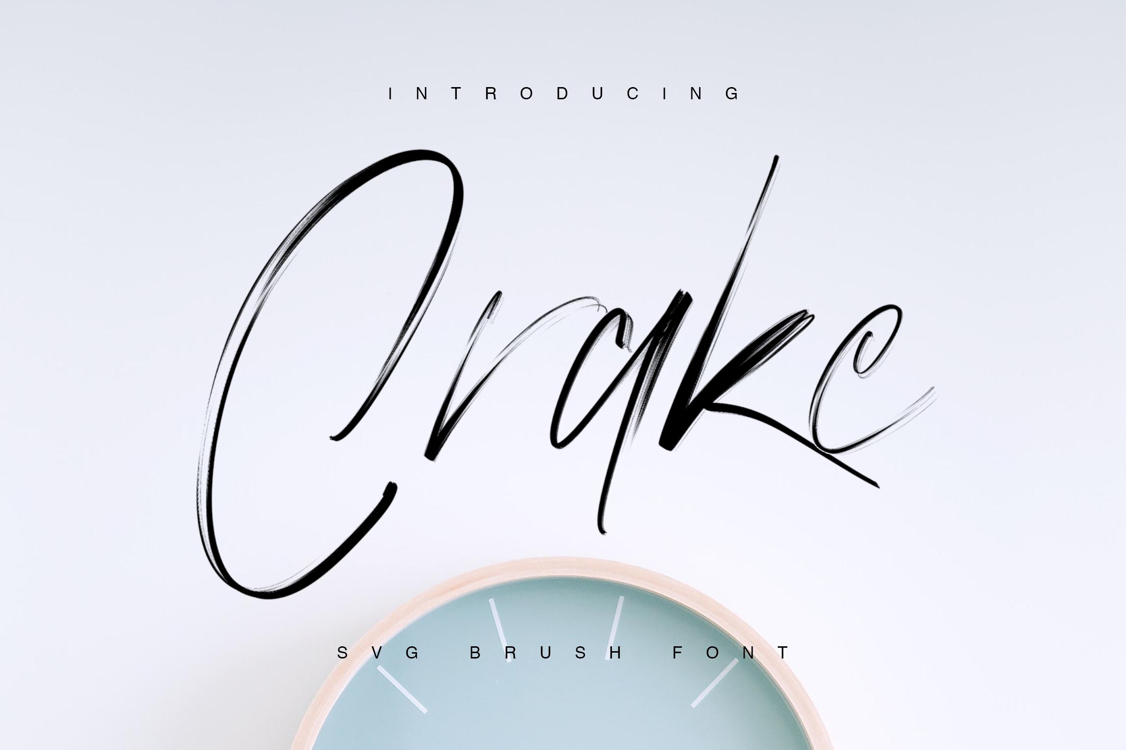 Crake - Brush SVG Font example image 1