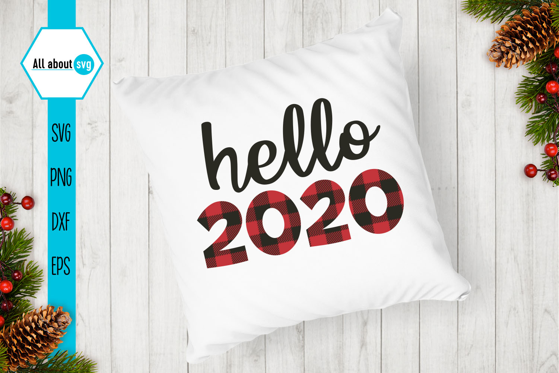 Hello 2020 Buffalo Plaid Svg example image 3