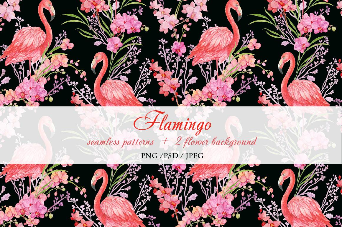 Flamingo seamless patterns example image 5