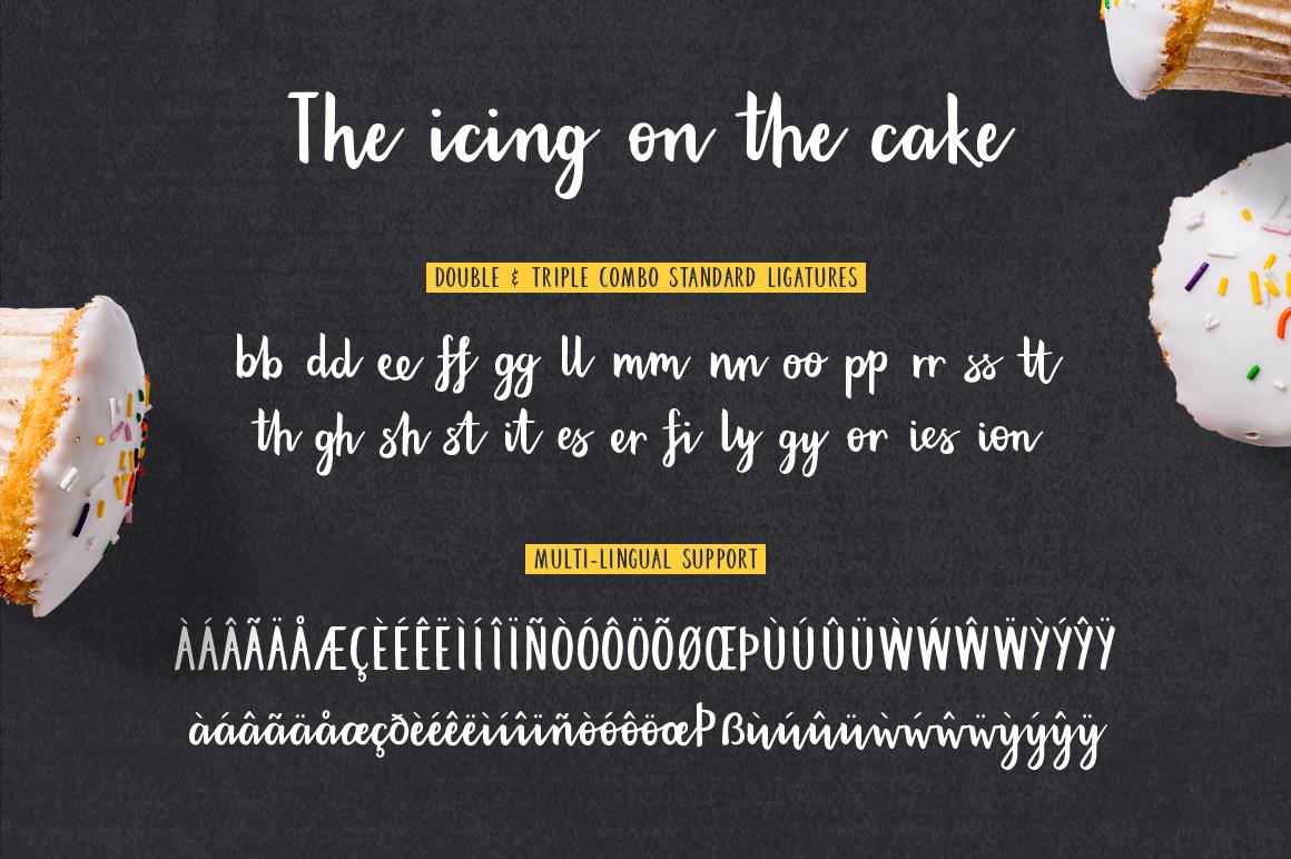 Bakehouse script font example image 8
