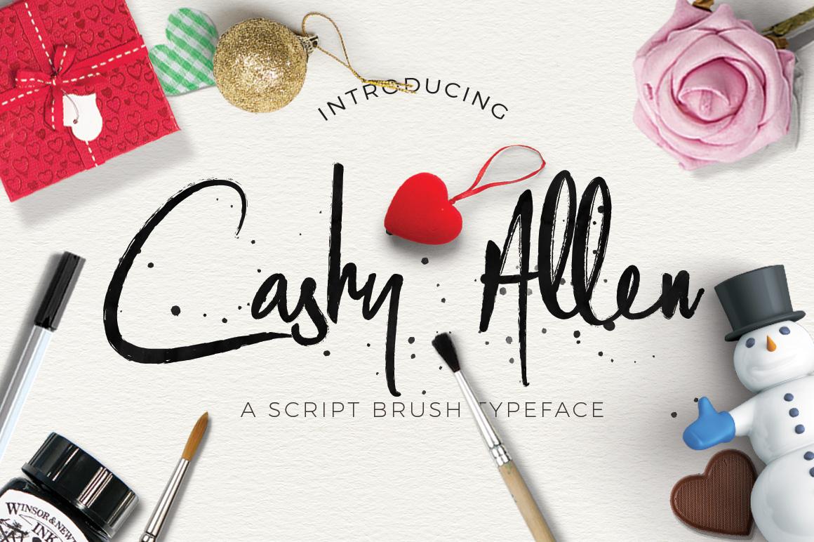 Cashy Allen Typeface example image 1