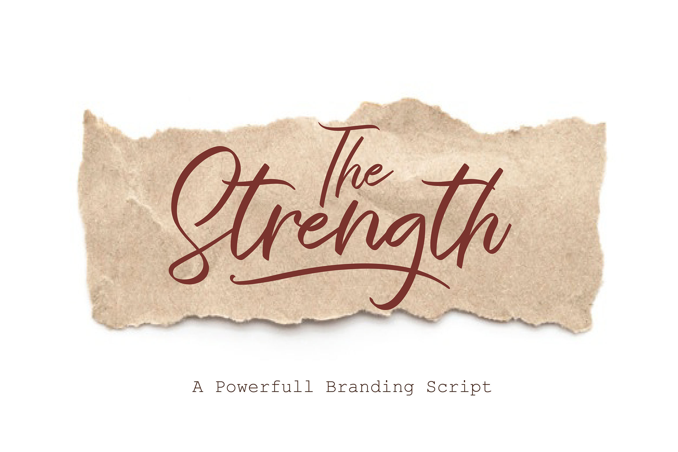 The Strength - A Branding Script example image 1