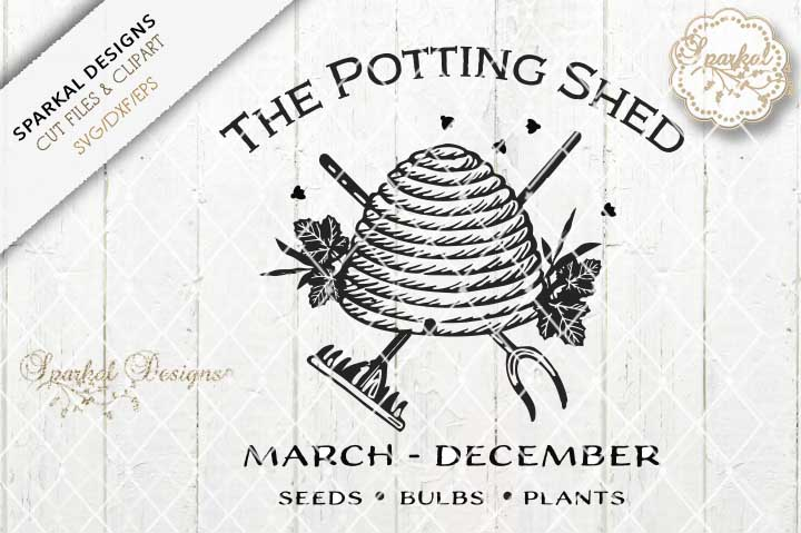 Potting Shed Bee Hive - Farmhouse Design example image 1