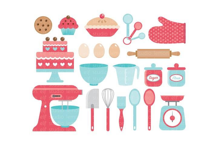 Baking Utensils-Digital Clipart (LES.CL11) example image 1