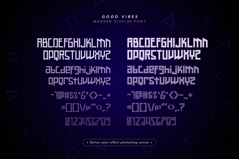 Good Vibes - Modern Neon Display Font example image 9