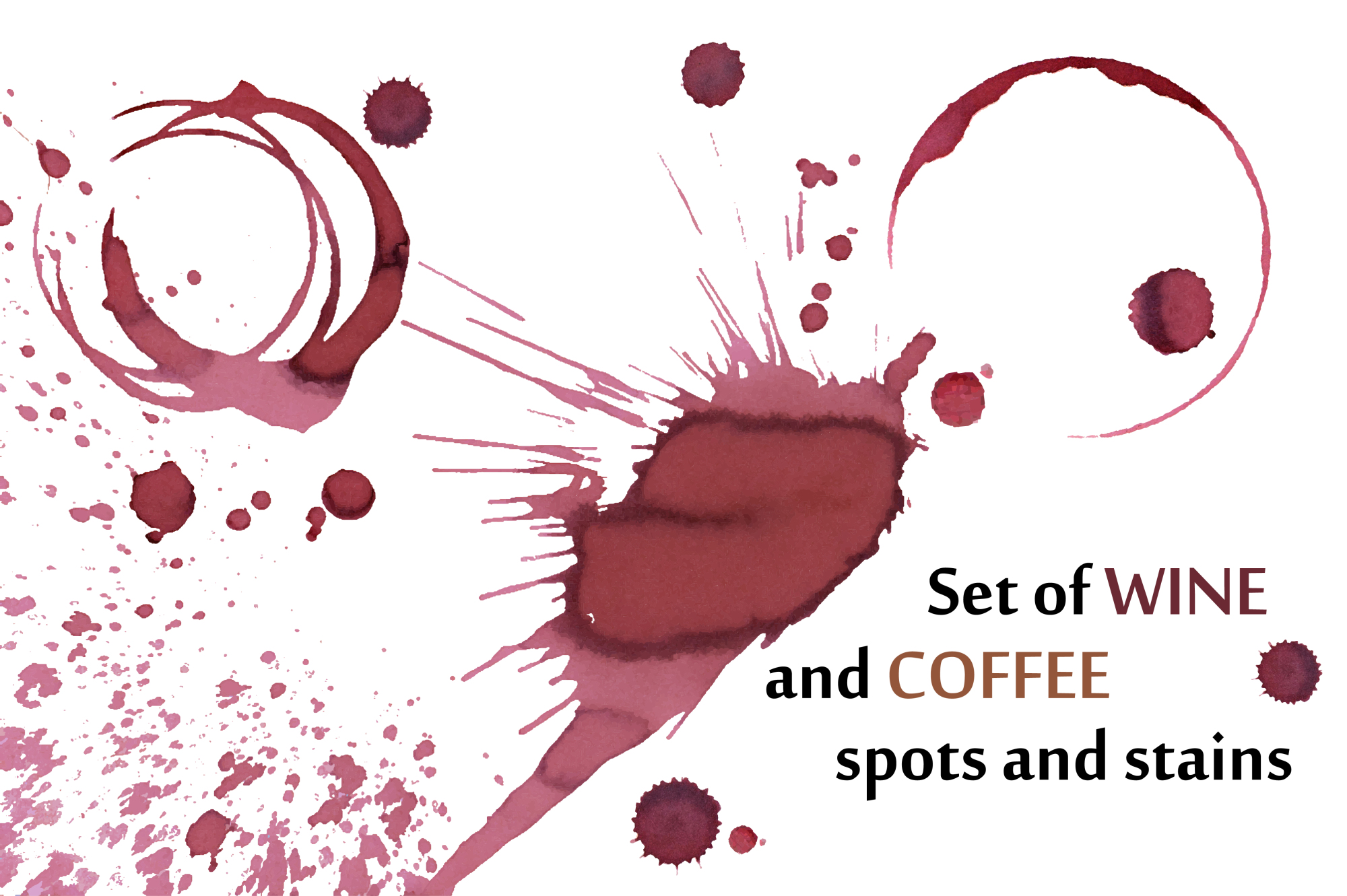 Wine and coffee stains example image 1