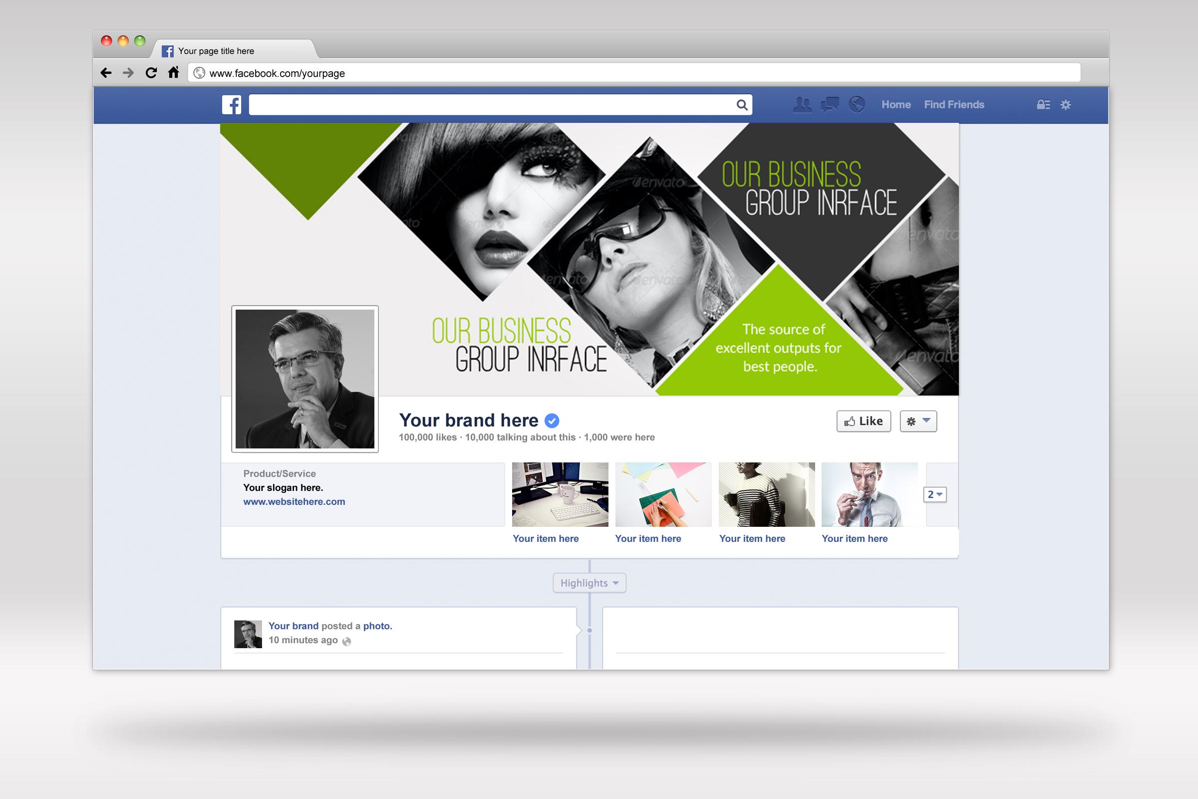 Stylish Facebook Timeline Cover example image 2