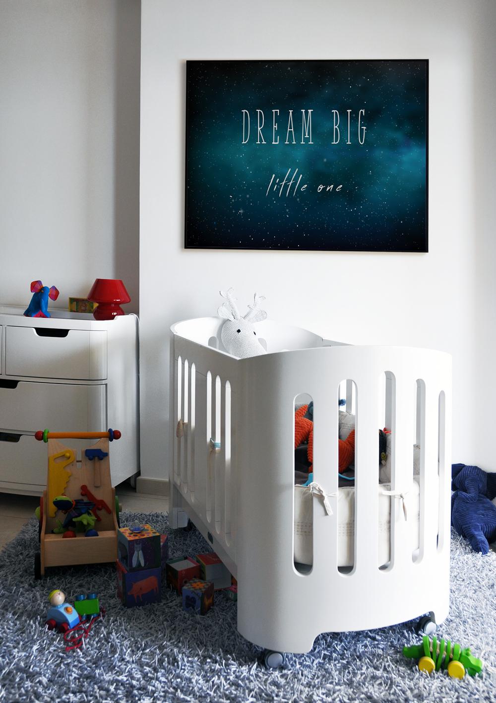 Space Nursery Decor, Nursery Prints Boy, Dream Big example image 2