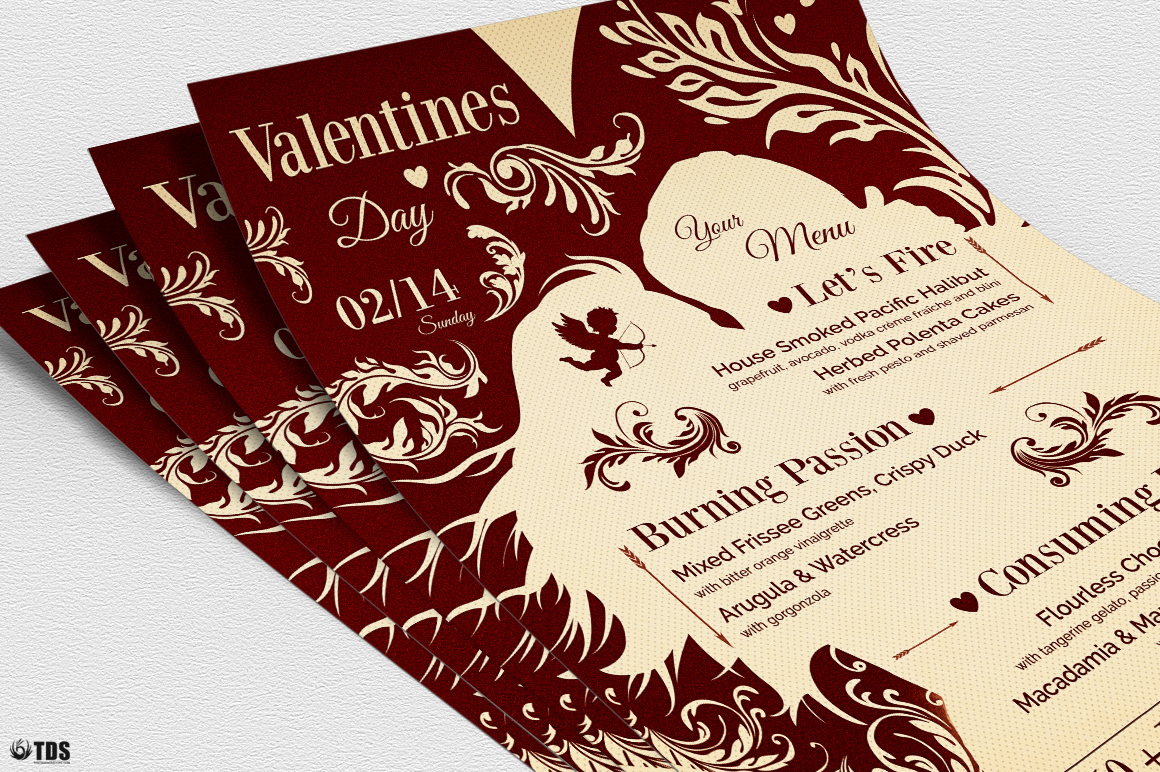 Valentines Day Menu Template V6 example image 6