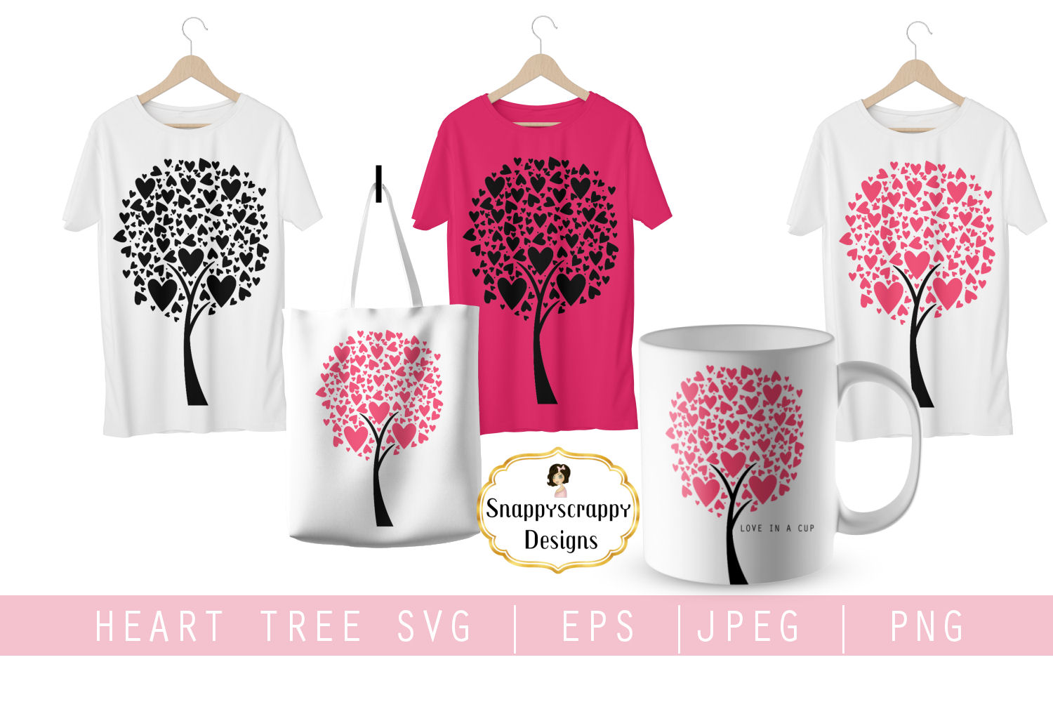 Tree Hearts SVG example image 2