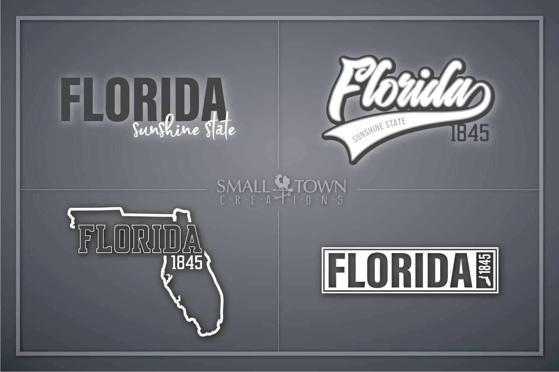 Florida, Sunshine State - slogan, logo, PRINT, CUT & DESIGN example image 1