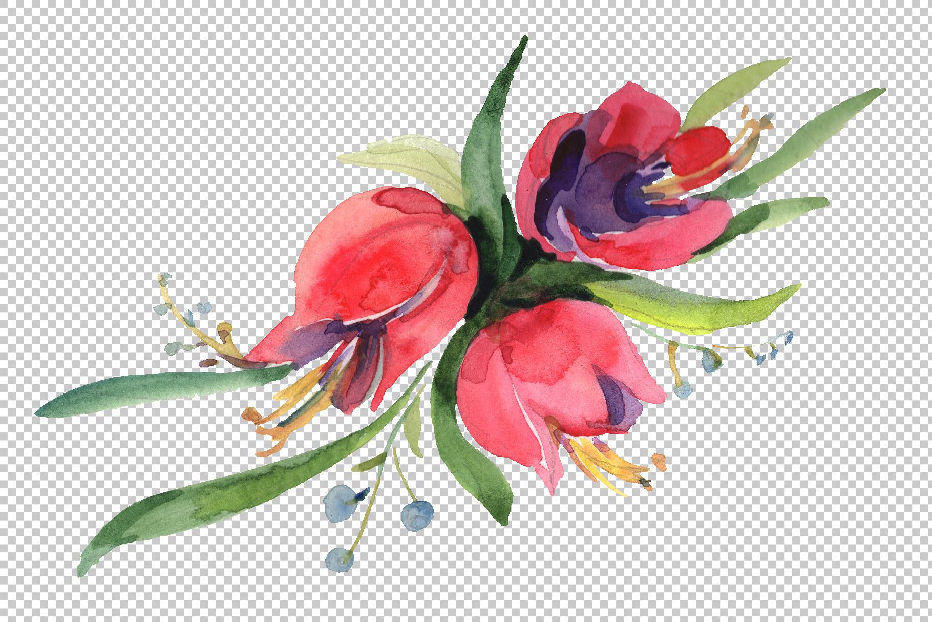 Bouquet April sun Watercolor png example image 2