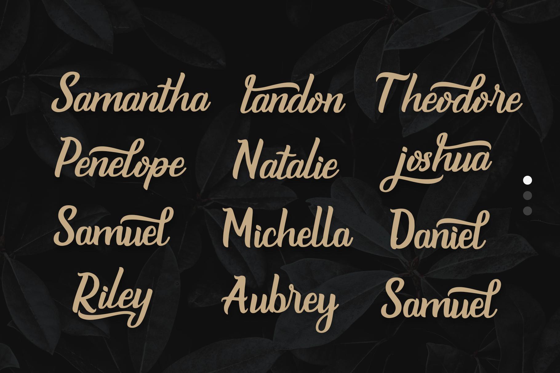 Burgundy - Handmade Font example image 7