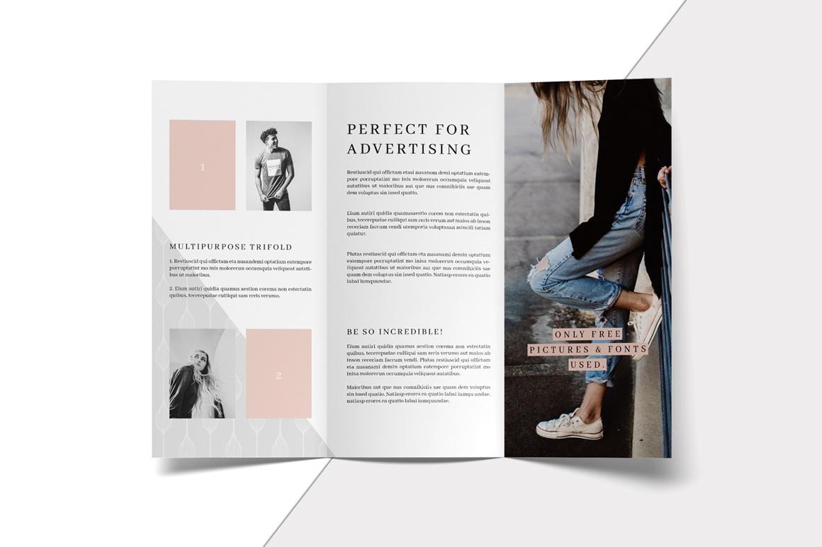 MALINA Trifold Brochure + Pattern example image 4