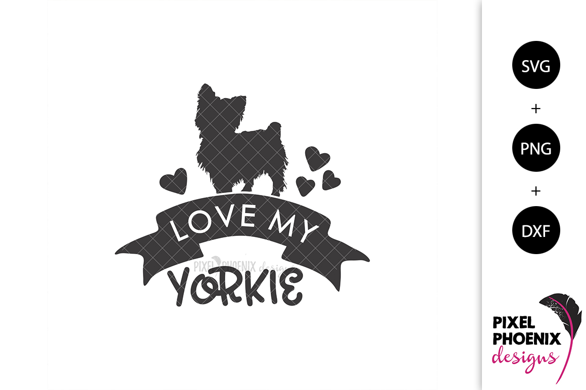 Love my Yorkie SVG example image 2