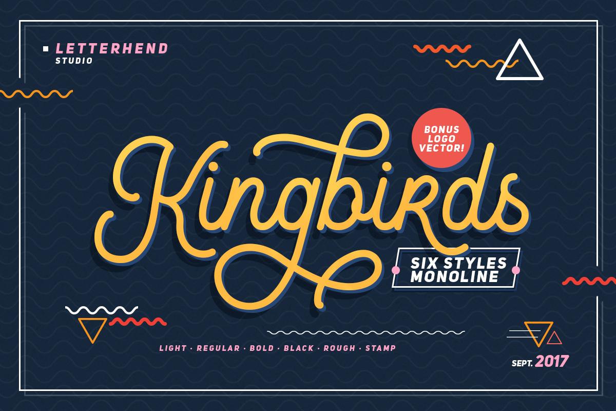 Kingbirds - 6 Styles Monoline example image 1