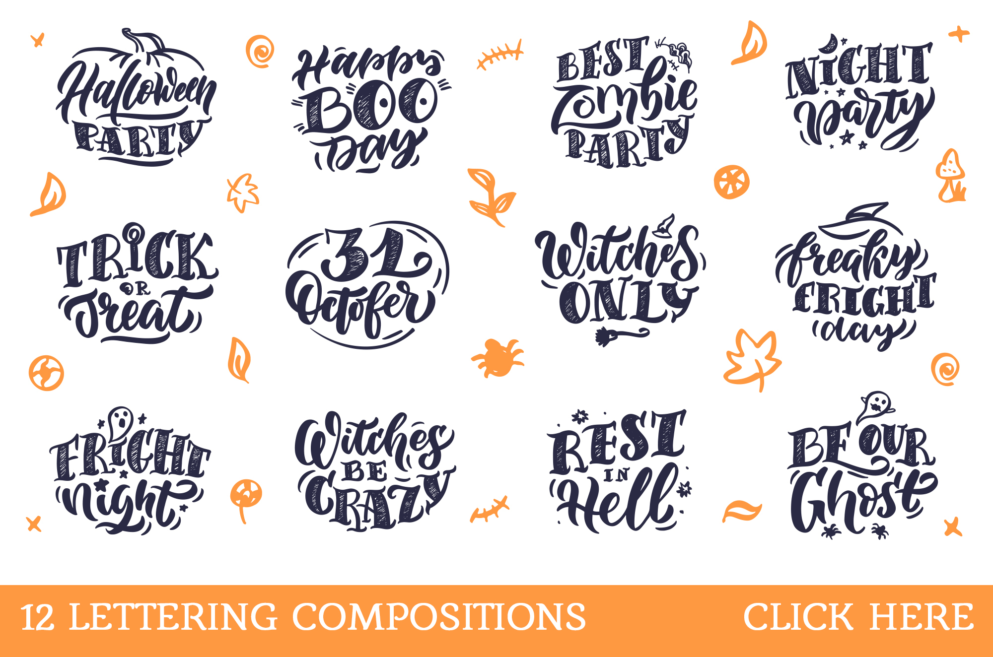 Halloween lettering set example image 3