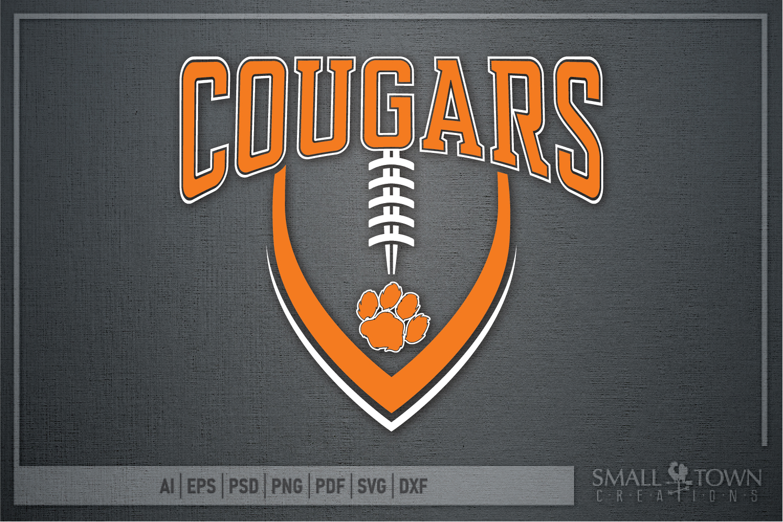 Cougar Football, Paw Print, Team, PRINT, CUT & DESIGN example image 5