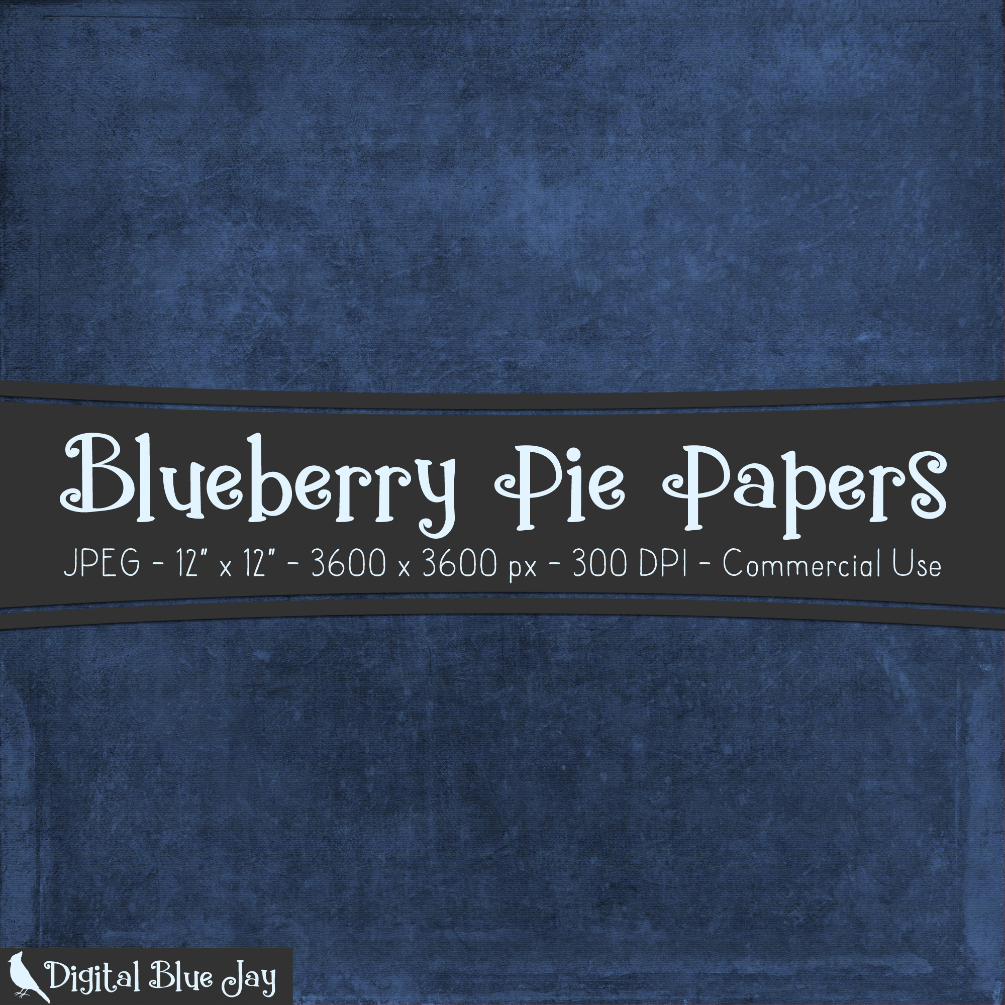 Digital Paper Textured Backgrounds - Blueberry Pie example image 2