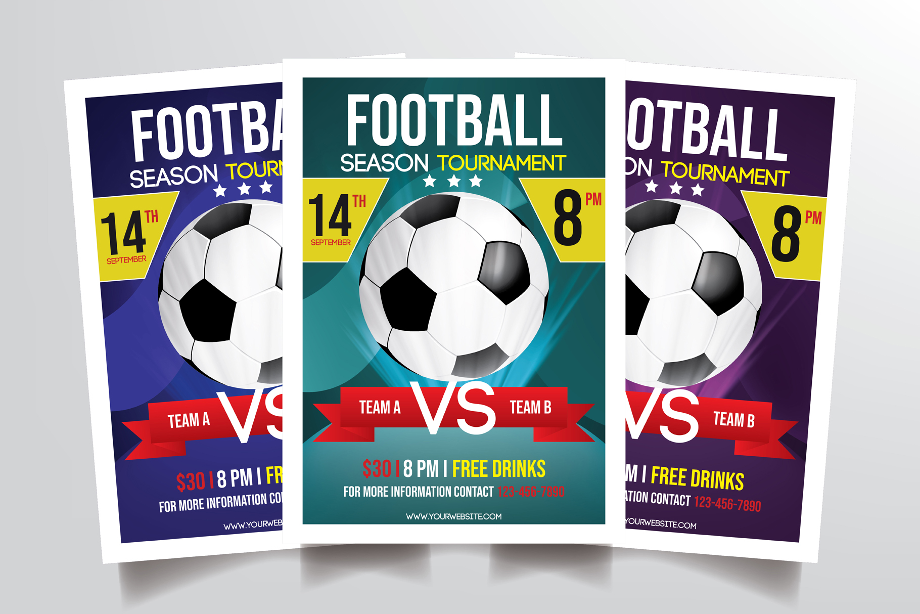 Football Tournament Flyer Template example image 1