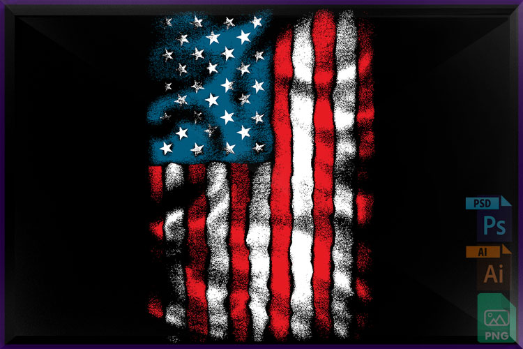 AMERICAN Flag Chest example image 1