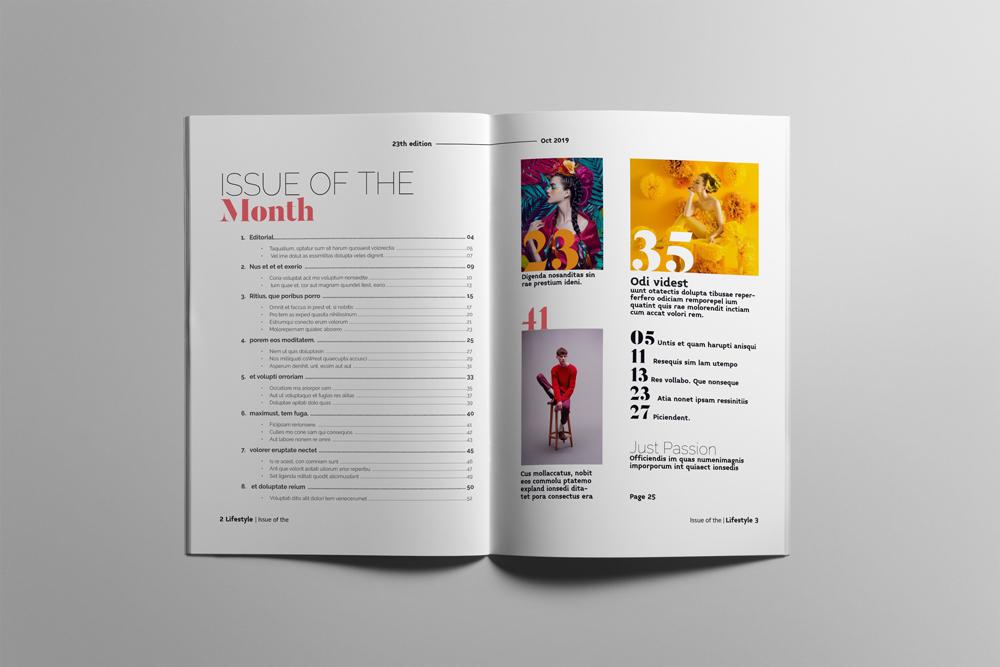 Fashion Magazine Layout Template example image 2