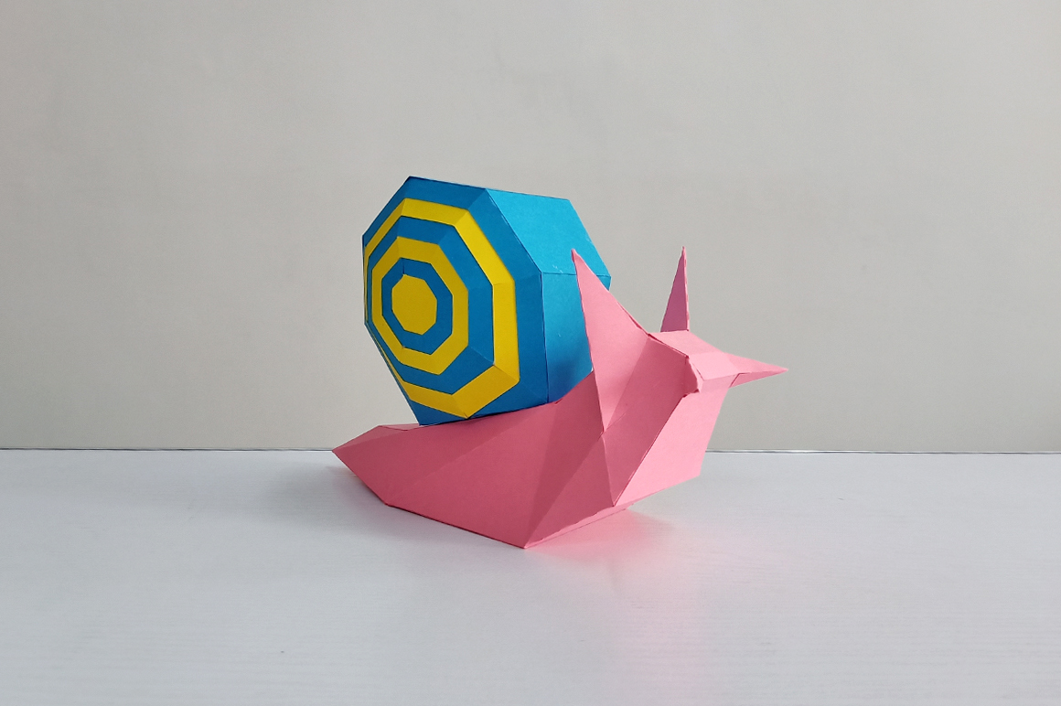 DIY Papercraft Snail,Paper Snail model,Printables,Paper toy example image 5